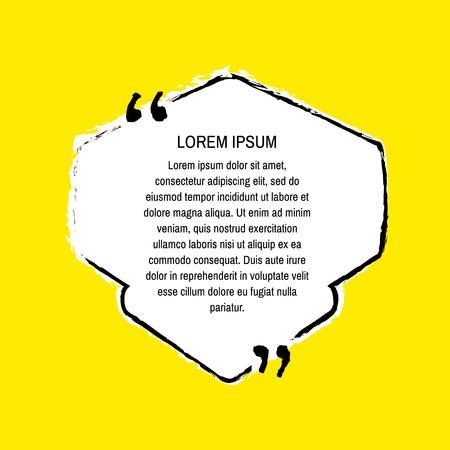 grunge quote white on yellow