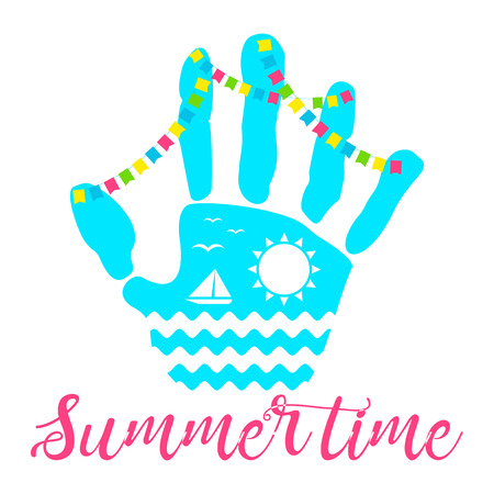 summer time palm ocean