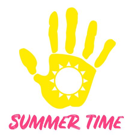 summer time palm sun