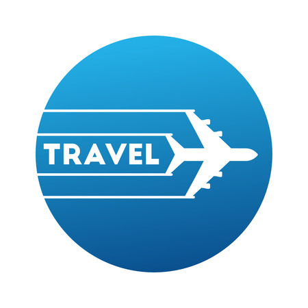 logo travels by airplane