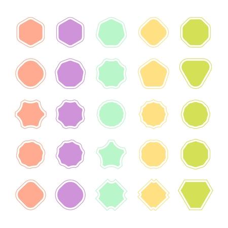 Ensemble de forme de badge de couleur, trophée et récompense, compétition et victoire