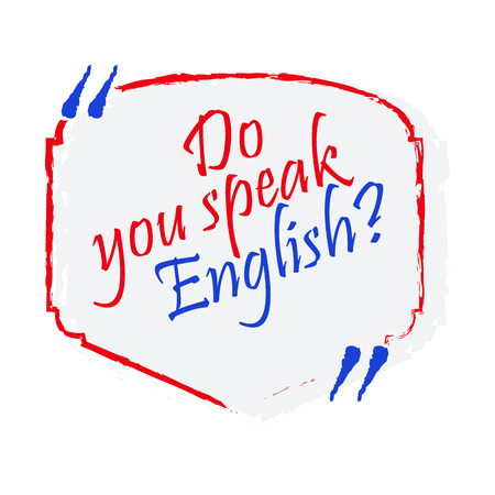Bright flat banner for English language learning.  イラスト・ベクター素材