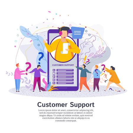 El operador de la línea directa informa al cliente. Man in the call center service support responde las preguntas de los clientes. Soporte técnico global en línea.