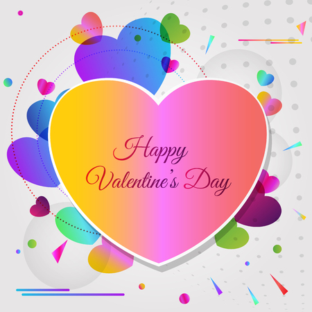 Vector abstract greeting card for Valentines Day  イラスト・ベクター素材