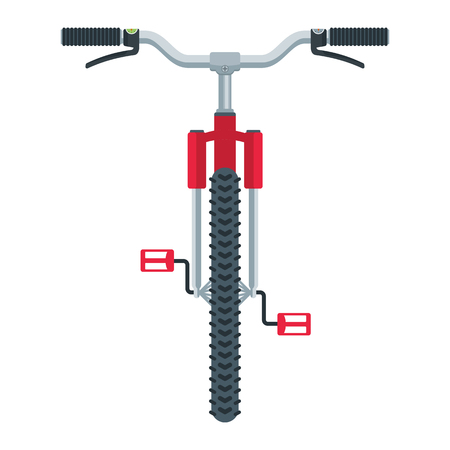 Mountain bike flat cartoon illustration. Objects isolated on white background. Vectores