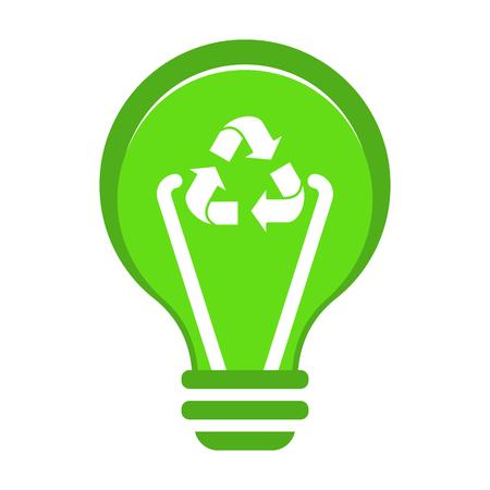 Renewable green energy concept. Ilustracja