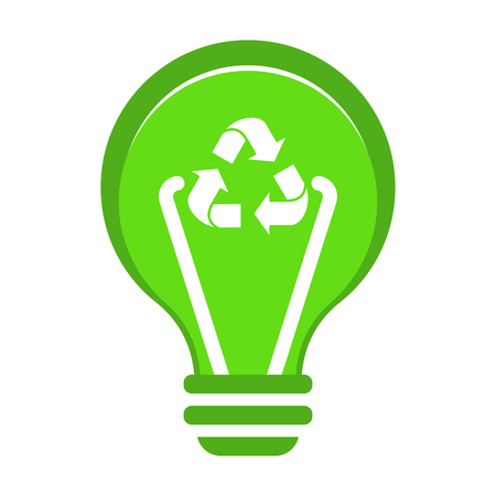 Renewable green energy concept. Illustration