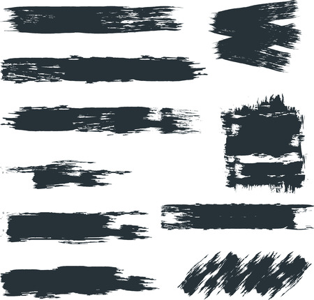 Different paint brush strokes Boxes for text.