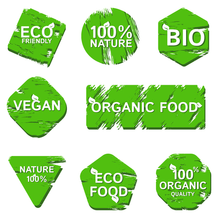 Logos pour les marques de produits biologiques naturels Logo