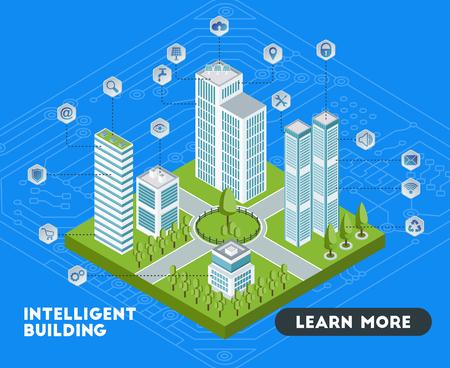 Banner de edificios inteligentes