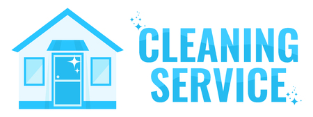 Cleaning service. Horizontal banner template. Flat vector illustration. Ilustração