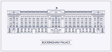 London Buckingham Palace Umriss flach