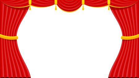 Tende con lambrequins sul palco del teatro