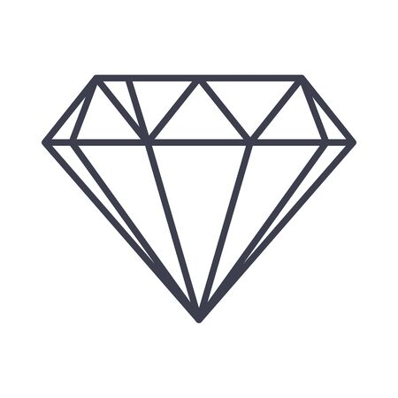 Diamond outline icon. Çizim