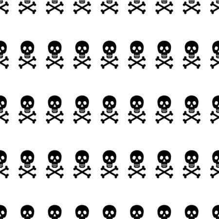 Seamless pattern with skull and crossbones. Stok Fotoğraf - 131820567