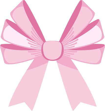 Elegant vector pink bows for greeting cards