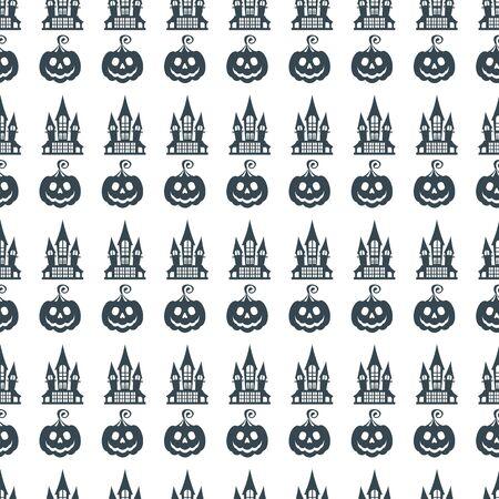 Flat cartoon  Halloween seamless pattern