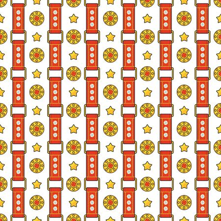 Seamless vector fashion pattern with thin red straps