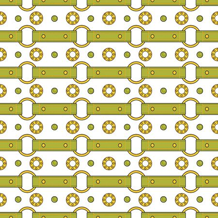 Seamless vector fashion pattern with thin green straps