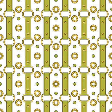 Seamless  fashion pattern with thin green straps