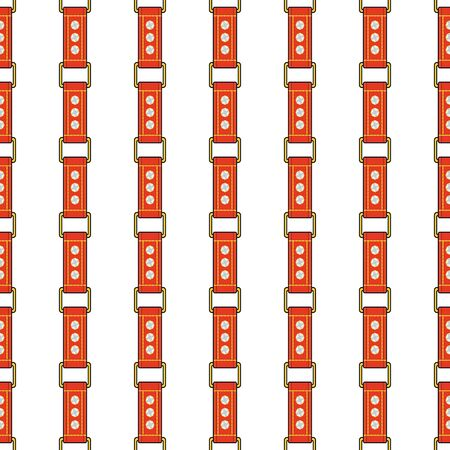 Seamless  fashion pattern with thin red straps