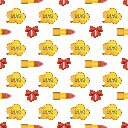Seamless pattern with fashion accessories for women.
