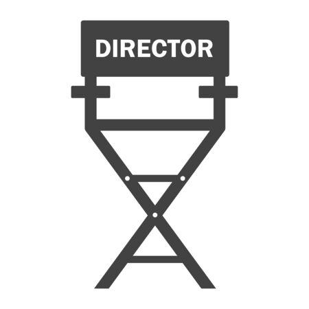 Film director chair on white  イラスト・ベクター素材