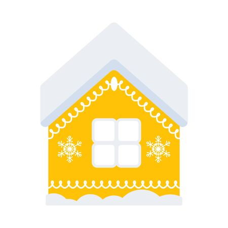 Sweet gingerbread house. Flat vector illustration. Illusztráció