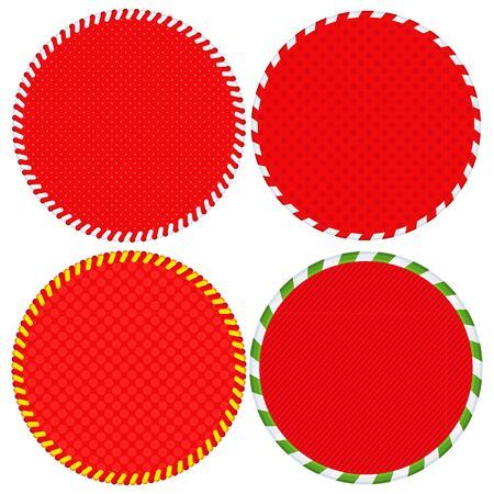 Vector round red sale tag. For winter, Christmas or New Year sale.