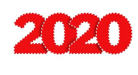 2020 Happy New Year  text design.