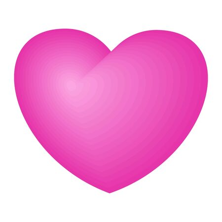 Bright pink heart. A symbol of love and tenderness, passion and mutual understanding. Symbol of medicine and feeling, saving people and animals. Ilustracja