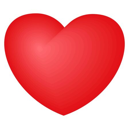 Bright red heart. A symbol of love and tenderness, passion and mutual understanding. Symbol of medicine and feeling, saving people and animals.