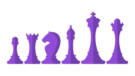 Series of chess pieces. Strategy logic board game. 일러스트