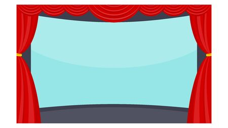 Cinema  Flat vector objects isolated