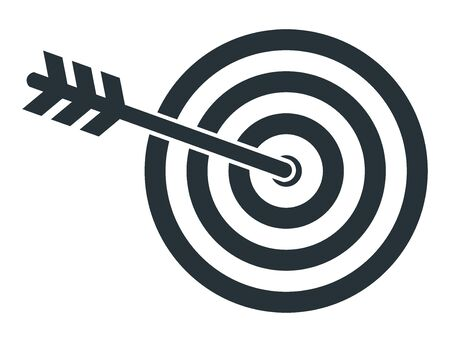 Target icon. Goal for archery as a metaphor for achieving results.