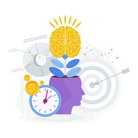 Brain is like a tree growing in a human head. The development of thinking,