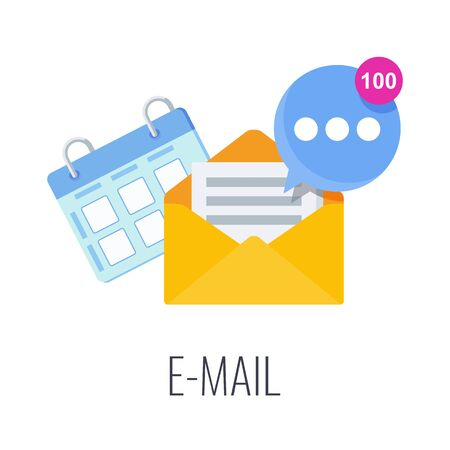 Email Infographics Pictogram. Strategy, management and marketing. Vettoriali