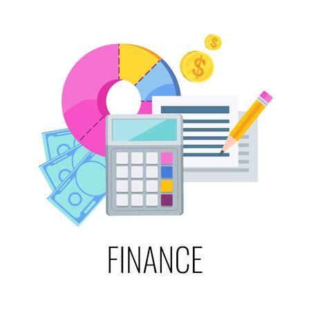 Finance Infographics Pictogram. Flat vector business illustration. Illustration