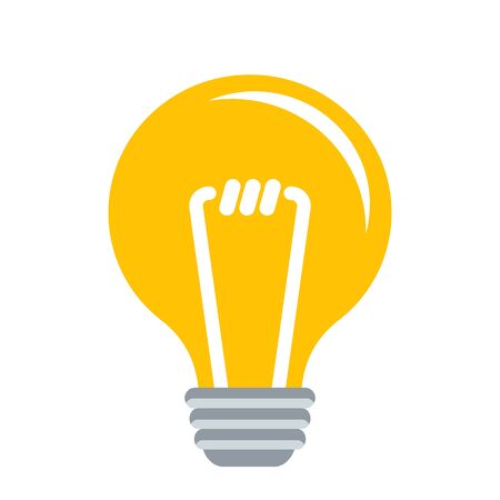 Electric lamp. Idea and innovation. Flat vector illustration.
