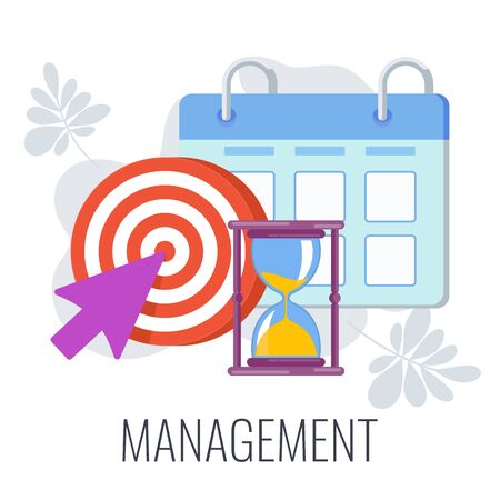 Management Infographics Pictogram. Flat vector illustration Standard-Bild - 147446178
