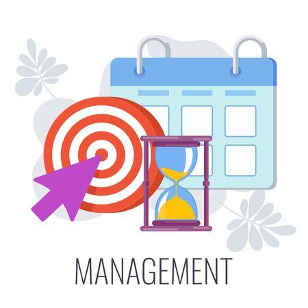 Management Infographics Pictogram. Flat vector illustration