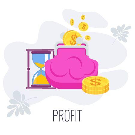 Profit Infographics strategy Pictogram. Flat vector illustration. Illustration