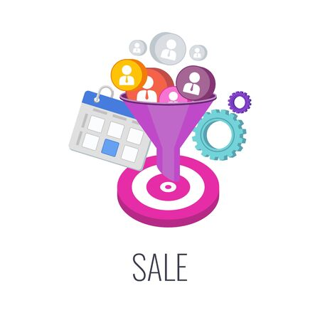 Sale Infographics Pictogram. Successful sales strategy. management and marketing.