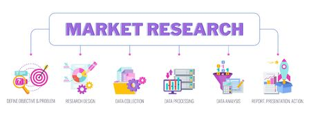 Market research concept banner.