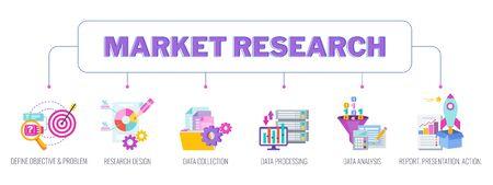Market research concept banner.