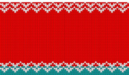 Knitted vector background. Celebration of Merry Christmas and New Year. For Holiday Greeting cards, banners, tags and labels. Illustration