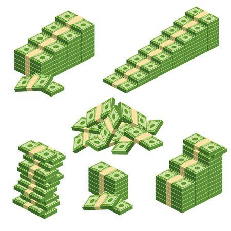 Huge packs of paper money.