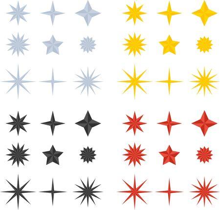 Flat vector firework star for festive background.