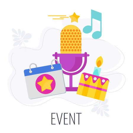 Event Icon. Marketing company between company and customers. Vektorgrafik