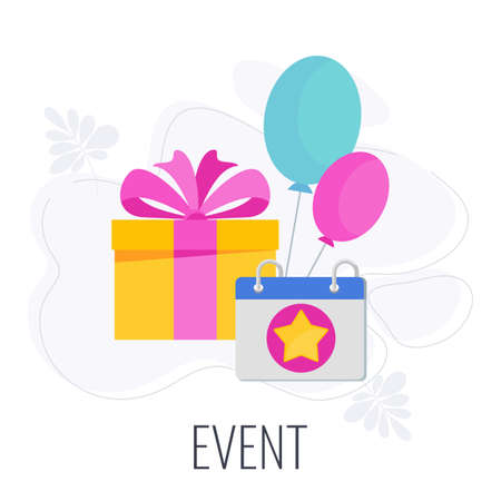 Event Icon. Marketing company between company and customers.